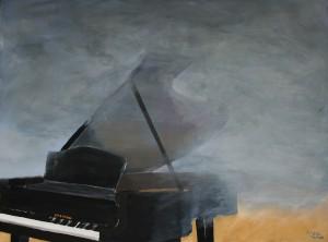 Vleugel in de mist